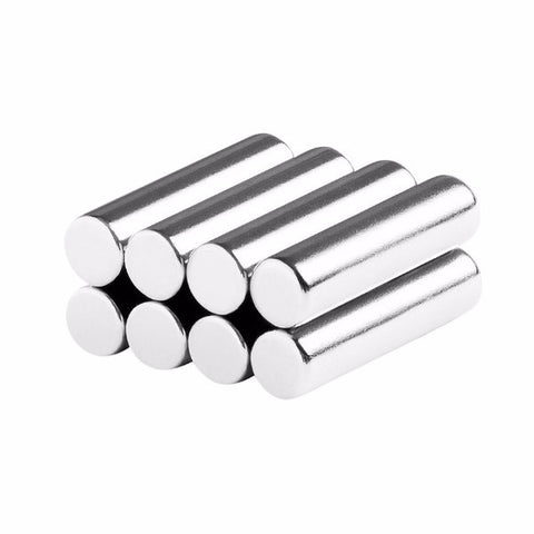 1/4 x 1 Inch Neodymium Rare Earth Cylinder/Rod Magnets N48 (8 Pack)