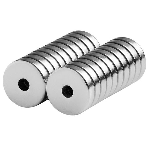 1/2 x 1/8 x 1/8 Inch Neodymium Rare Earth Ring/Donut Magnets N42 (20 Pack)