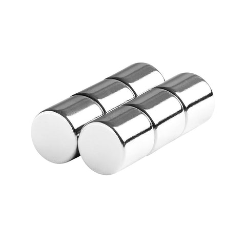 1/2 x 1/2 Inch Neodymium Rare Earth Cylinder Magnets N48 (6 Pack)