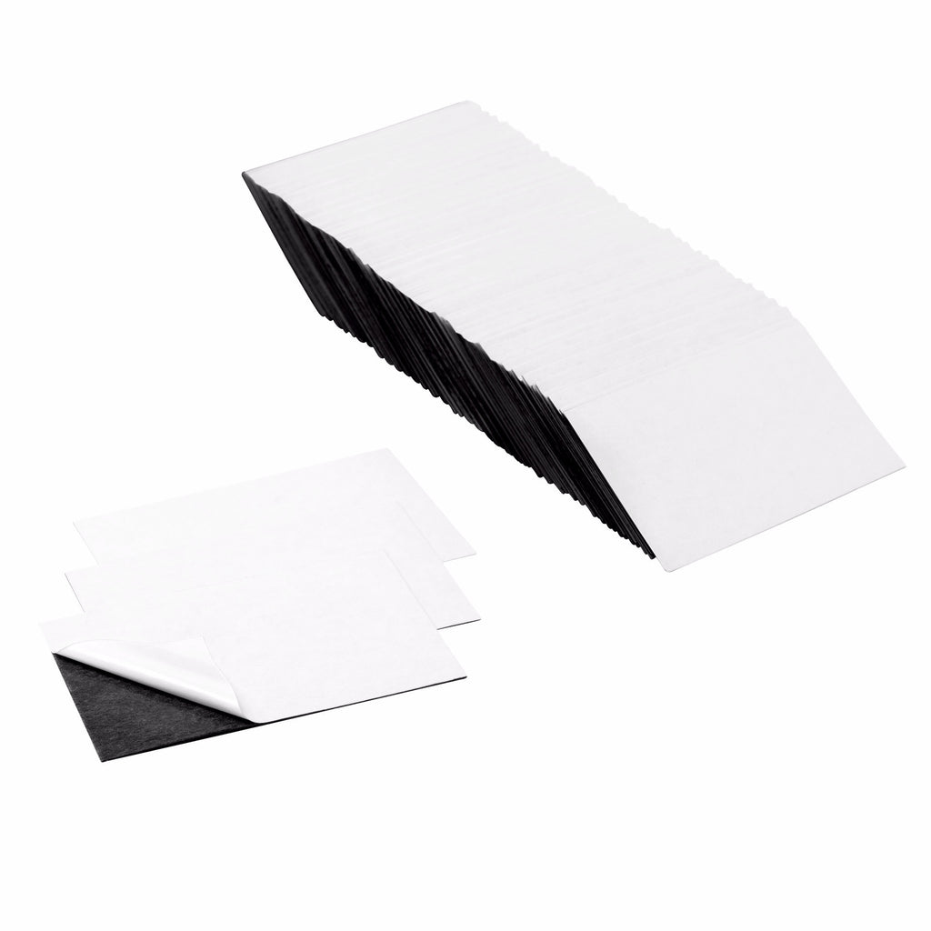 3.5 x 2 Inch Business Card Strong Flexible Self-Adhesive Magnetic Shee