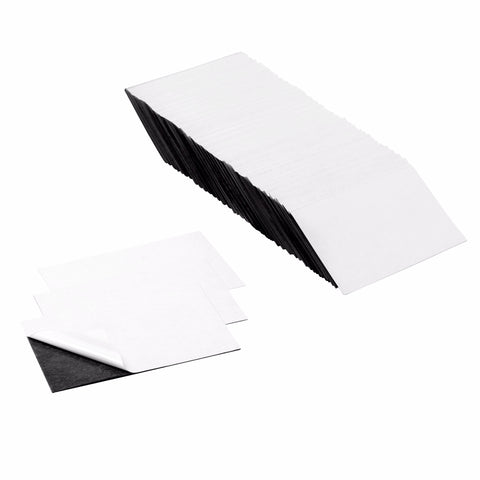 3.5 x 2 Inch Business Card Strong Flexible Self-Adhesive Magnetic Sheets Peel & Stick Refrigerator Magnet Sheets (100 Pieces)