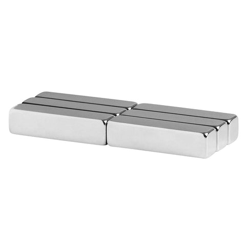 1/4 x 1/4 x 1 Inch Neodymium Rare Earth Bar Magnets N48 (6 Pack)