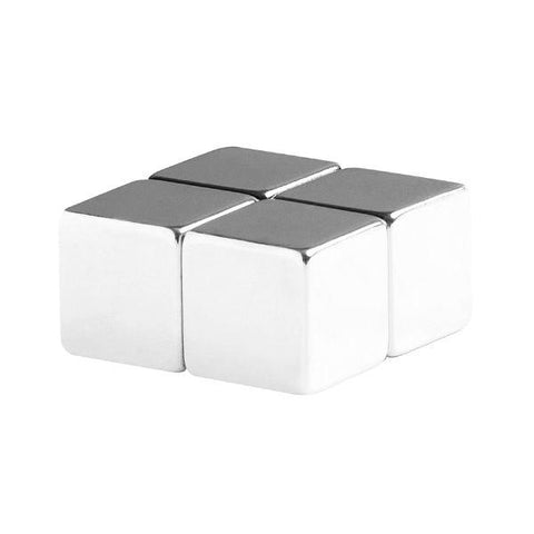 1/2 Inch Neodymium Rare Earth Cube Magnets N48 (4 Pack)