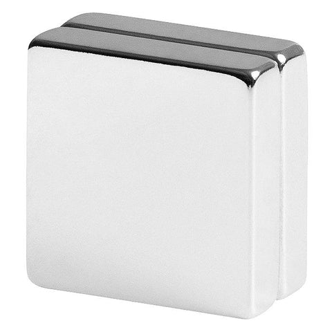 1 x 1 x 1/4 inch Neodymium Rare Earth Block Magnets N42 (2 Pack)