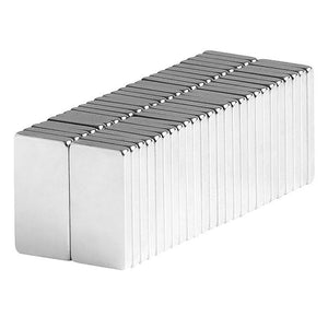 1/2 x 1/4 x 1/16 Inch Neodymium Rare Earth Block Magnets N42 (50 Pack)
