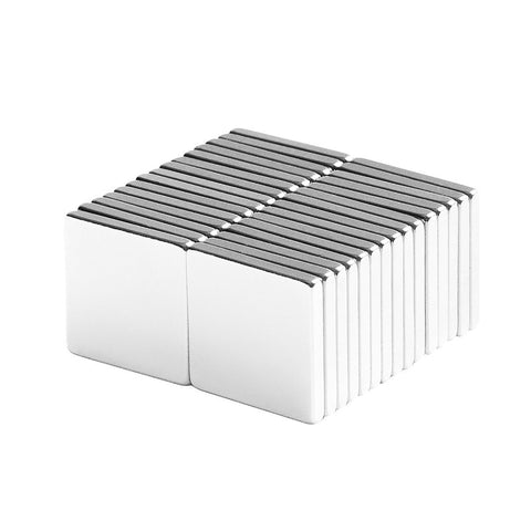 1/2 x 1/2 x 1/16 Inch Neodymium Rare Earth Block Magnets N48 (30 Pack)