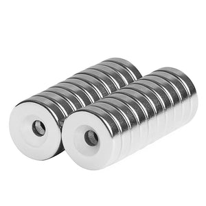 1/2 x 1/8 Inch Neodymium Rare Earth Countersunk Ring Magnets N42 (20 Pack)