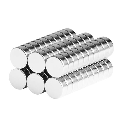 1/4 x 1/10 Inch Neodymium Rare Earth Bottle Cap Disc Magnets N48 (60 Pack)