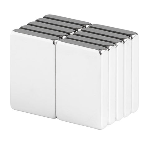 3/4 x 1/2 x 1/8 Inch Neodymium Rare Earth Block Magnets N48 (10 Pack)