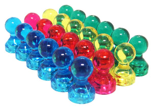 totalElement Small Assorted Color Translucent Magnetic Push Pins (24 Pack)