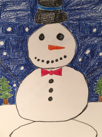 "A Snowman in the Gentle Snow, pack of 5""x 8"""