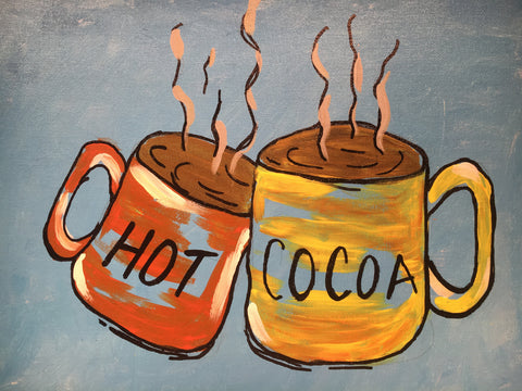 "Hot Cocoa, pack of 5""x 8"""