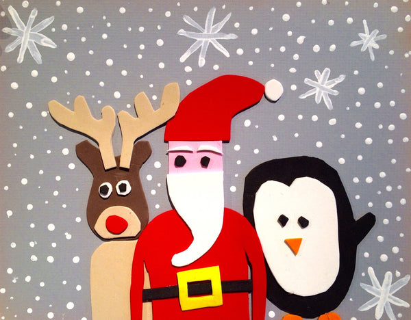 "Three Friends, pack of 5""x8"" holiday cards"