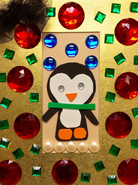 "The Little Penguin, pack of 5""x8"" holiday cards"