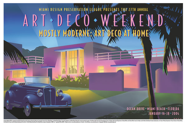 2004 Mostly Moderne: Art Deco At Home Premiere Poster
