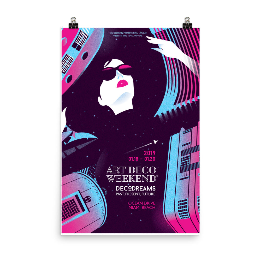 NEW: 2019 Art Deco Weekend Poster