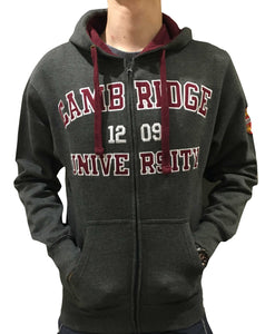 Official Cambridge University Zipped Hoodie