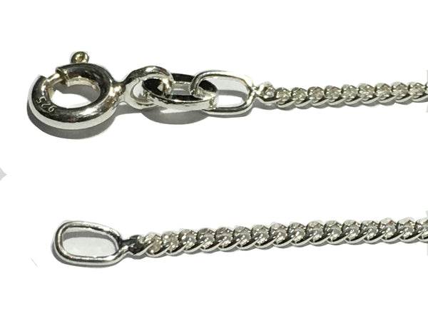 "20"" / 50cm long, 925 Sterling Silver Chain - Light Curb Link Chain - 925 Sterling Silver"