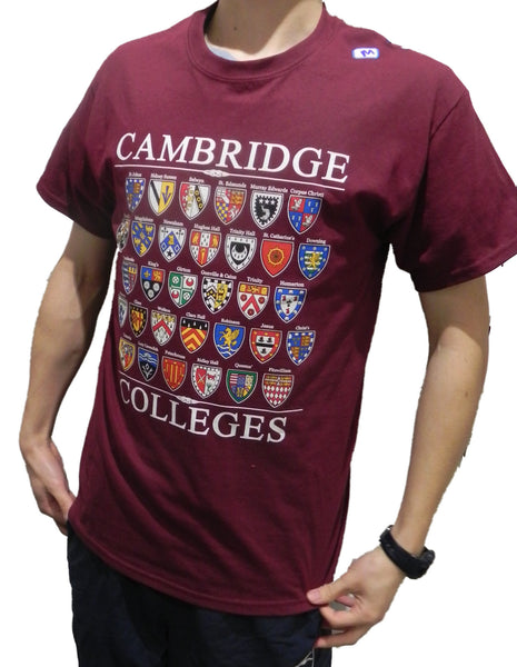 Cambridge Colleges T-shirt - Colleges from the Famous City of Cambridge, England