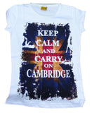 Keep Calm Cambridge T-shirt - Funny Tshirt from Cambridge, England