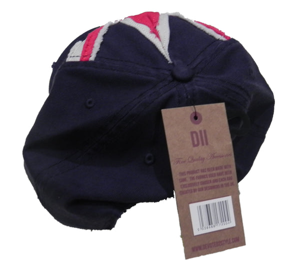 Cambridge England Cap - Adjustable Cap with Union Jack and Cambridge Applique Writing