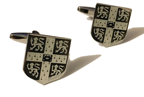 Cambridge University Cufflinks - with Laser engraved crest - Official Licenced product