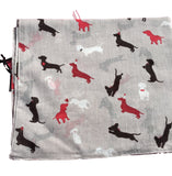Lovely Dachshund Party Scarf - Party Dachshund puppy Sausage Hot Dog Cotton S...
