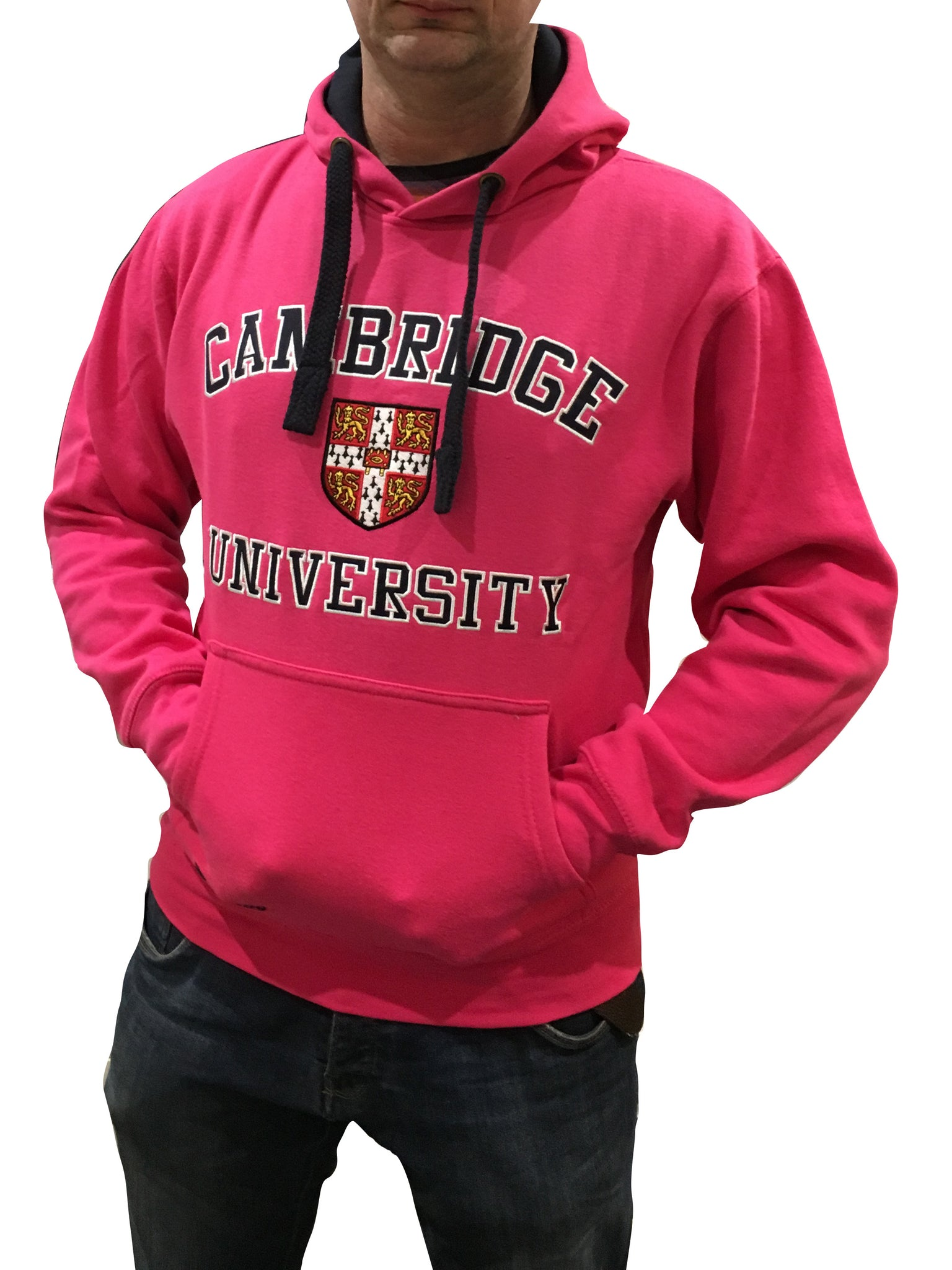 Cambridge University Embroidered Hoodie - Pink - Official Apparel