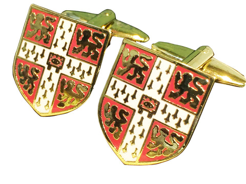 Cambridge University Cufflinks - with Colour crest - Official Licenced product