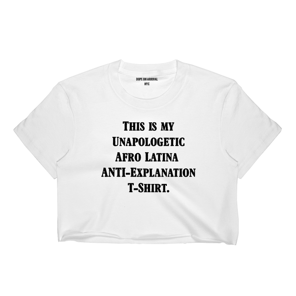 Unapologetic Afro Latina Crop T-Shirt