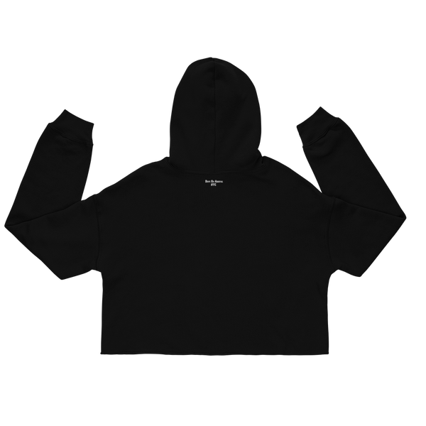 Black. No Sugar No Cream ®  Black Crop Hoodie