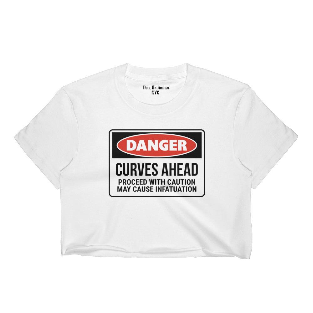 Danger Curves Ahead Crop Tee