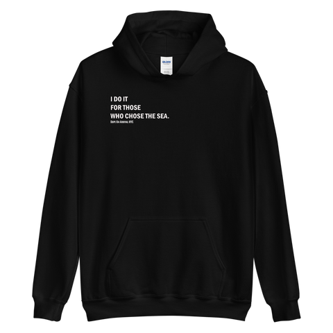 I Do It For Unisex Black Hoodie