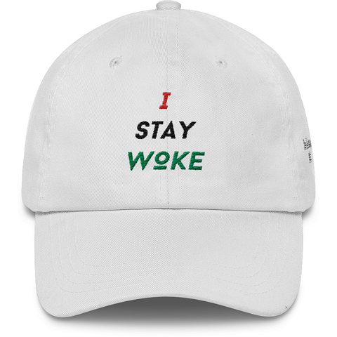 RBG I Stay Woke White Dad Hat