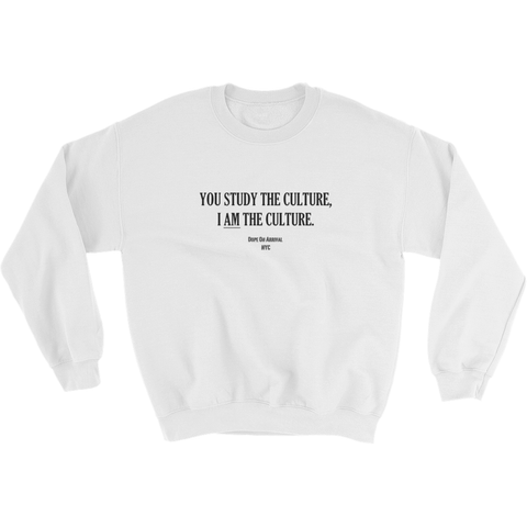 I AM The Culture White Unisex Crewneck Sweatshirt