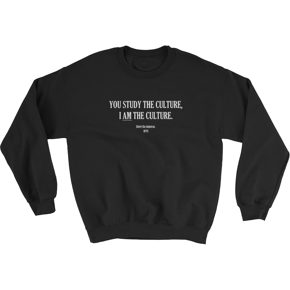 I AM The Culture Black Unisex Crewneck Sweatshirt