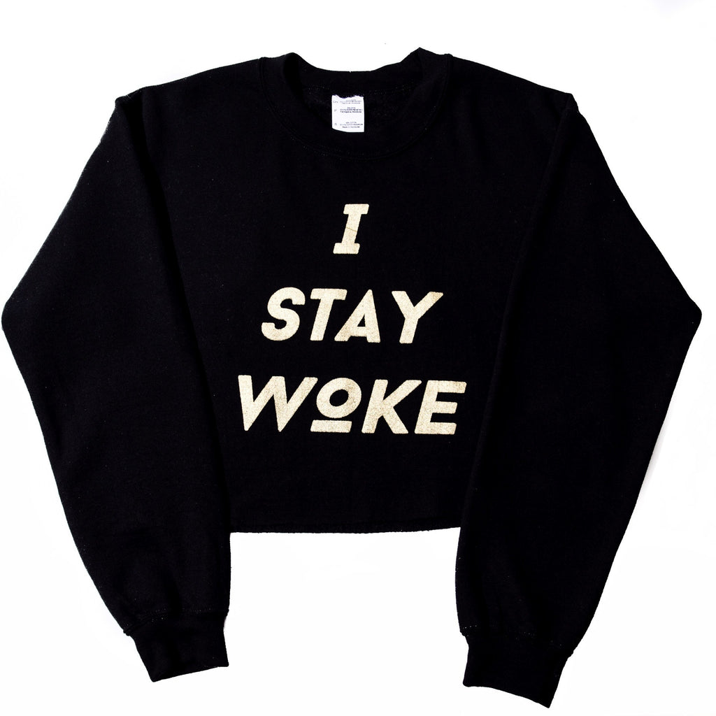 I Stay Woke Eye Of Ra Crop Sweatshirt