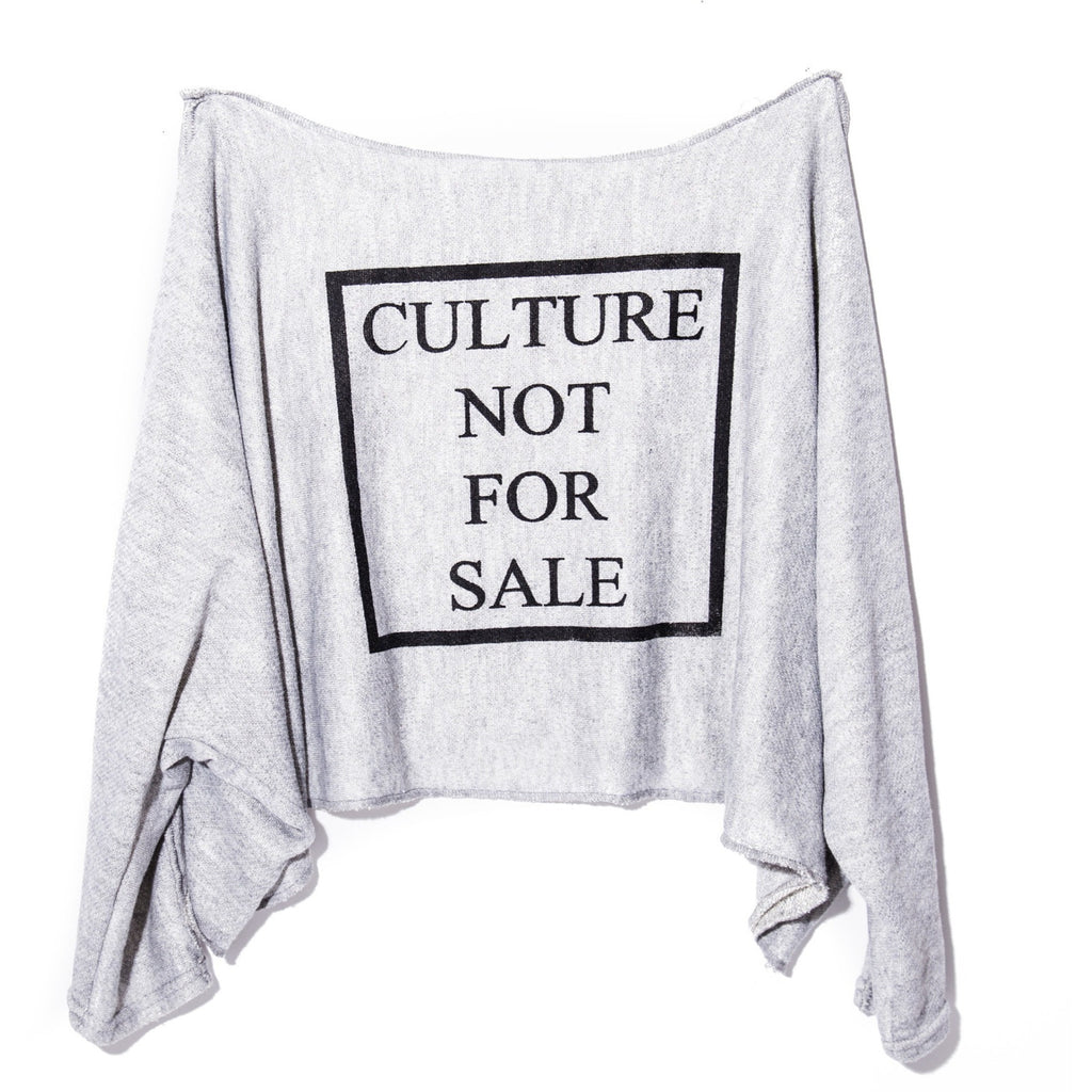 Culture Not For Sale Oversized Crop Sweater Small- XL