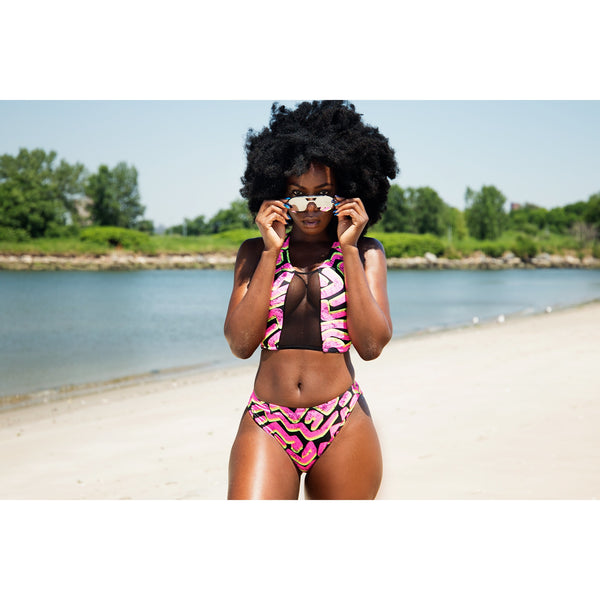 Work of Art Pink 2 piece Swimsuit by Nia V (Limited Edition)