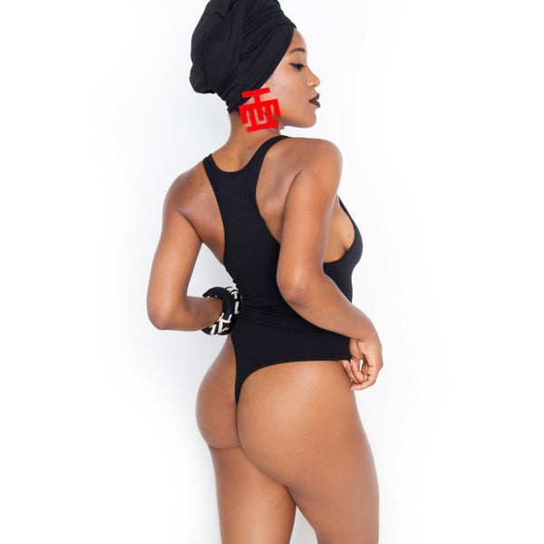 Black. No Sugar No Cream ® Black and Gold Swimsuit