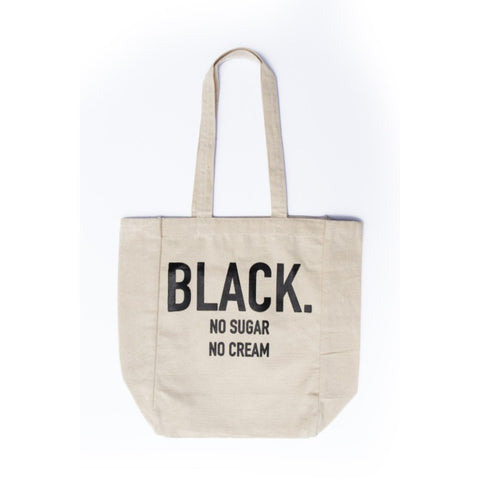 Black. No Sugar No Cream Tote Bag