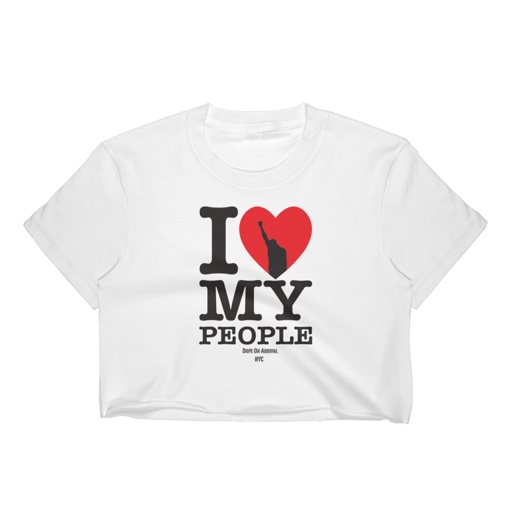 I love my people Crop Tee