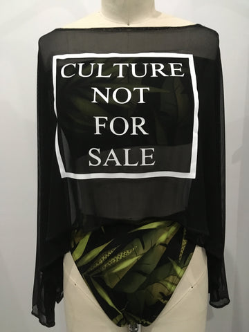 Culture Not For Sale Oversized Crop shirt Small-2XL