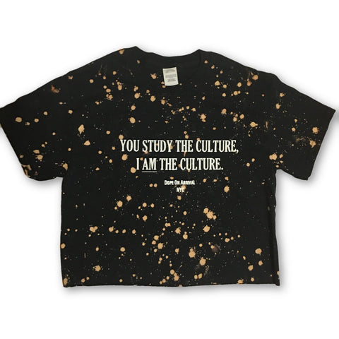 I AM The Culture Black and Acid Wash Unisex Crop Tee