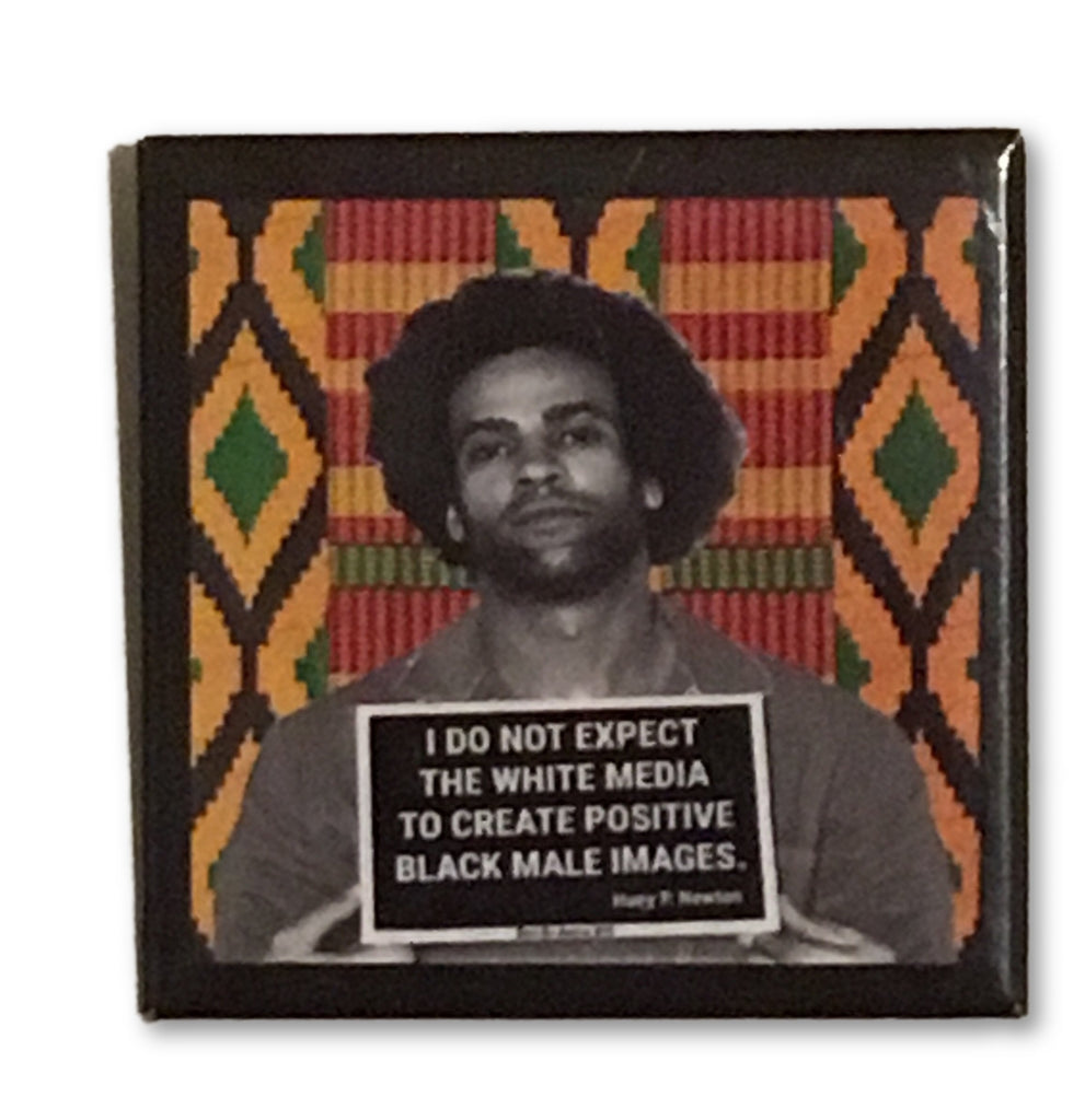 Huey Facts Kente button