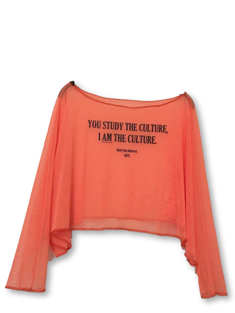 I Am The Culture Oversized Off the shoulder Mesh Crop top (Afro Punk BKLYN19 Exclusive)