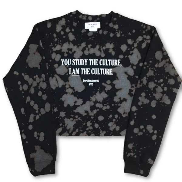 I AM The Culture crop sweatshirt
