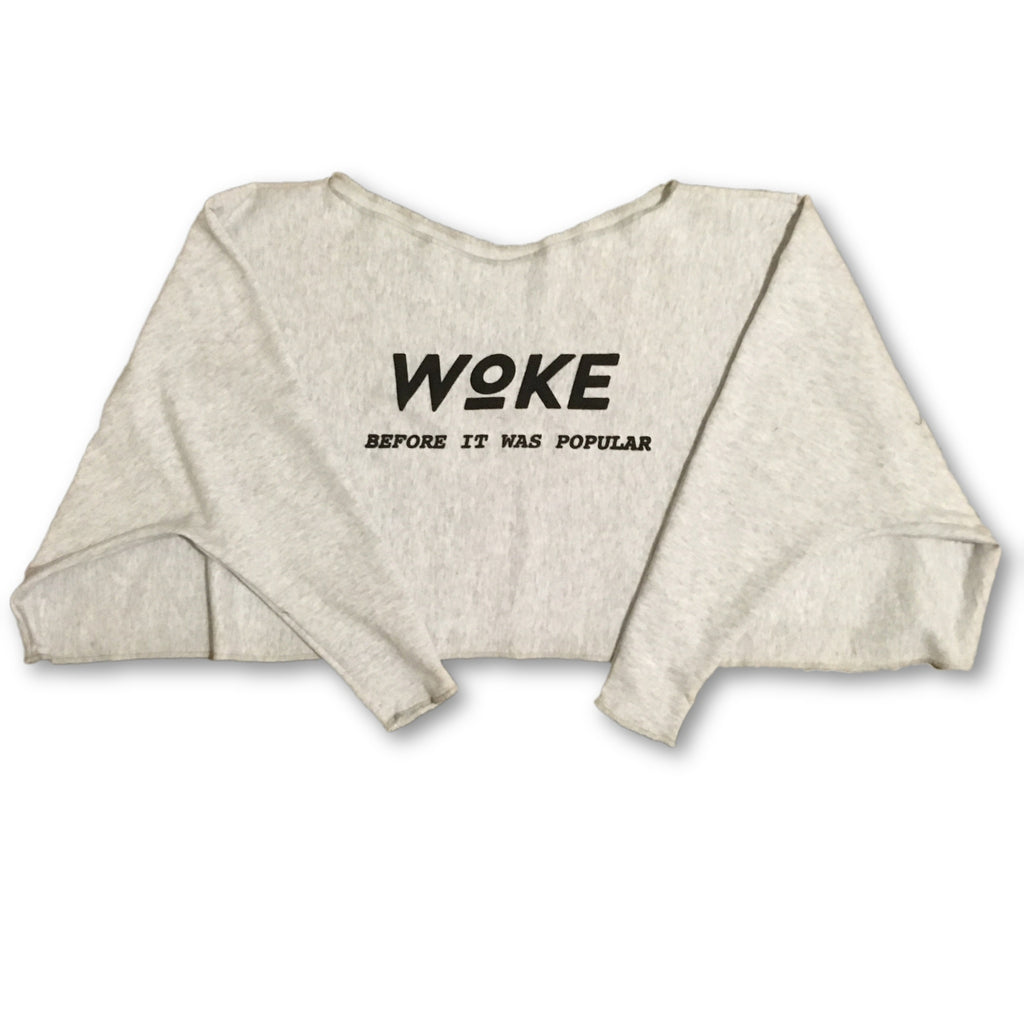 Woke Before Oversized Sweater Crop top
