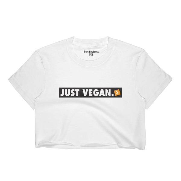 Just Vegan Crop Tee