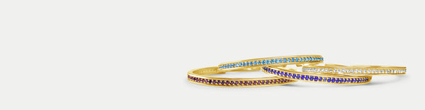 Jubilee Talis Cuffs In 18k Gold With Precious Gemstones